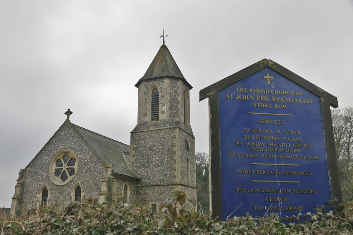 The Sign From School Lane With The Church Behind On The Left The View Of The Church From The Entrance Along The Main Road