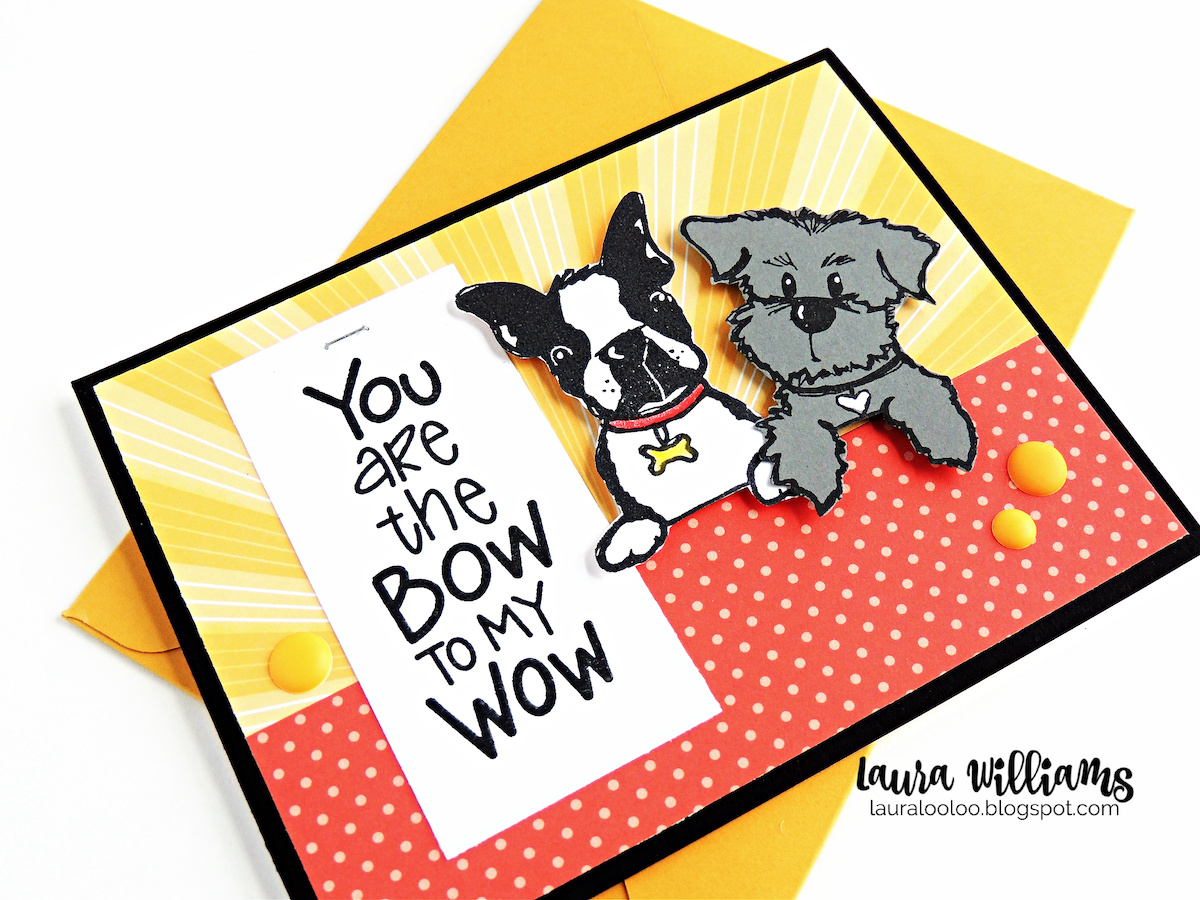 You are the bow to my wow - what an adorable sentiment for dog themed handmade cards! You'll love making cards and paper crafts with these dog stamps from Impression Obsession. Visit my blog to see more ideas with these furry friends!