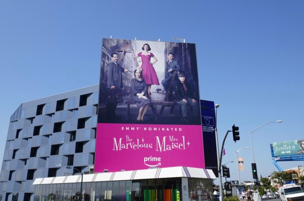 Marvelous Mrs Maisel Emmy nominated billboard
