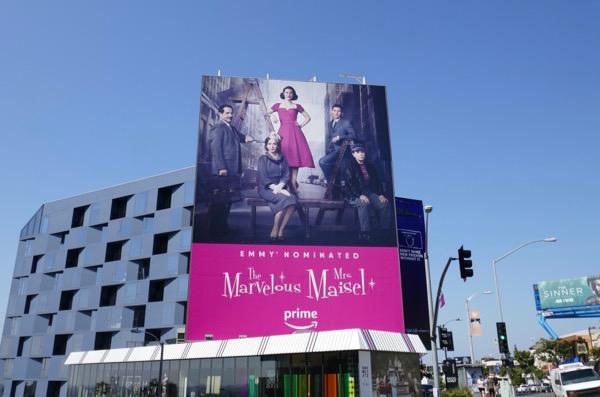 Marvelous Mrs Maisel Emmy nominated billboard