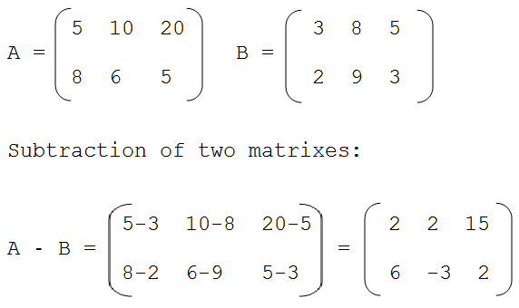 C programming Interview questions and answers: SUBTRACTION OF TWO