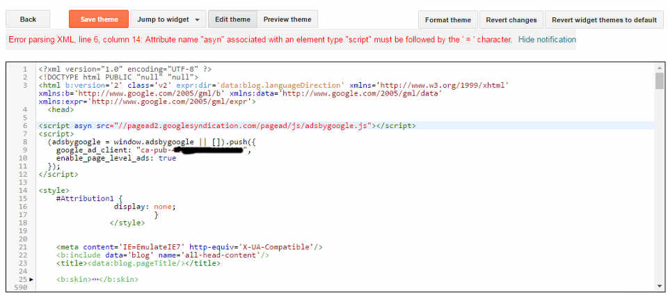 error parsing xml in google adsense code solved net gator
