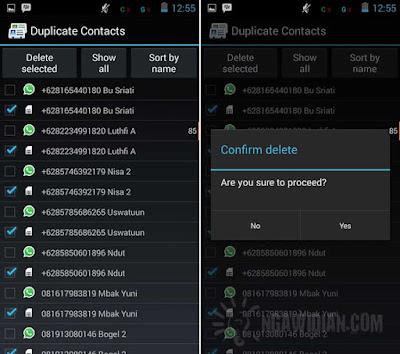 Cara Menghapus Kontak Ganda di Android
