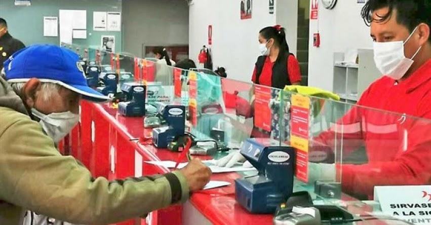 Banco de la Nación pagará hasta mayo a quienes aún no cobran bonos