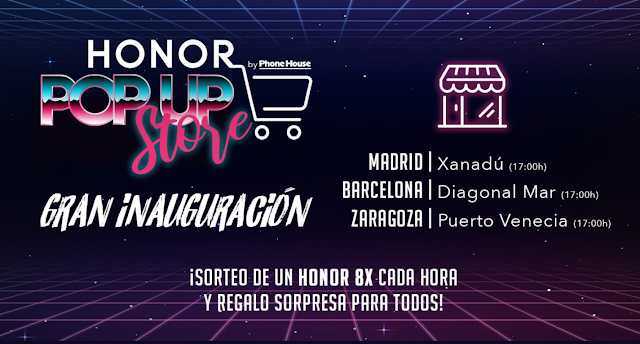 Tiendas Honor Madrid, Zaragoza y Barcelona.