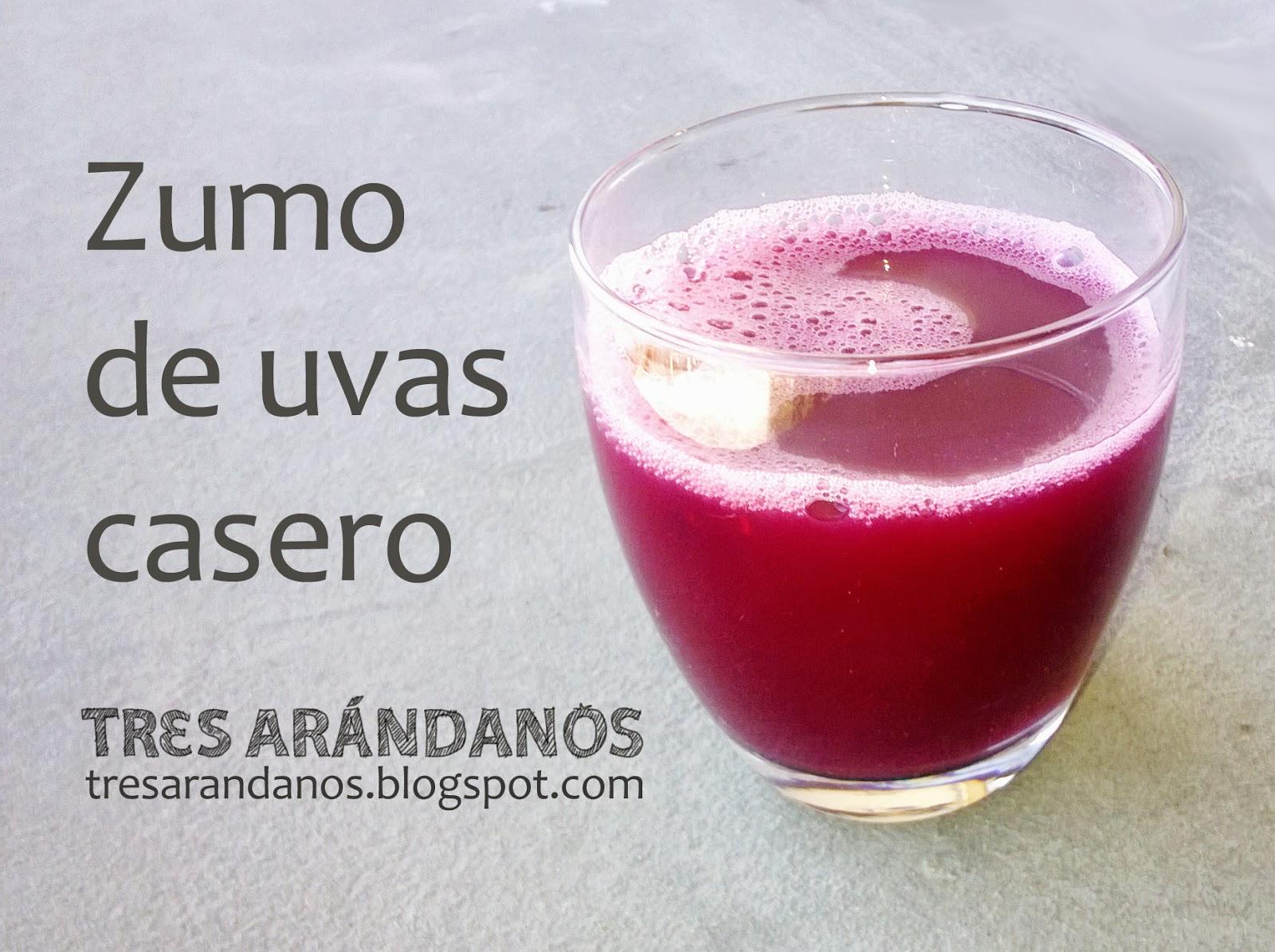 zumo de uvas casero
