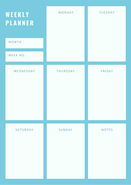 Weekly planners everyday writing