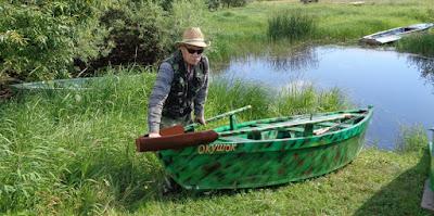 спуск лодки на воду