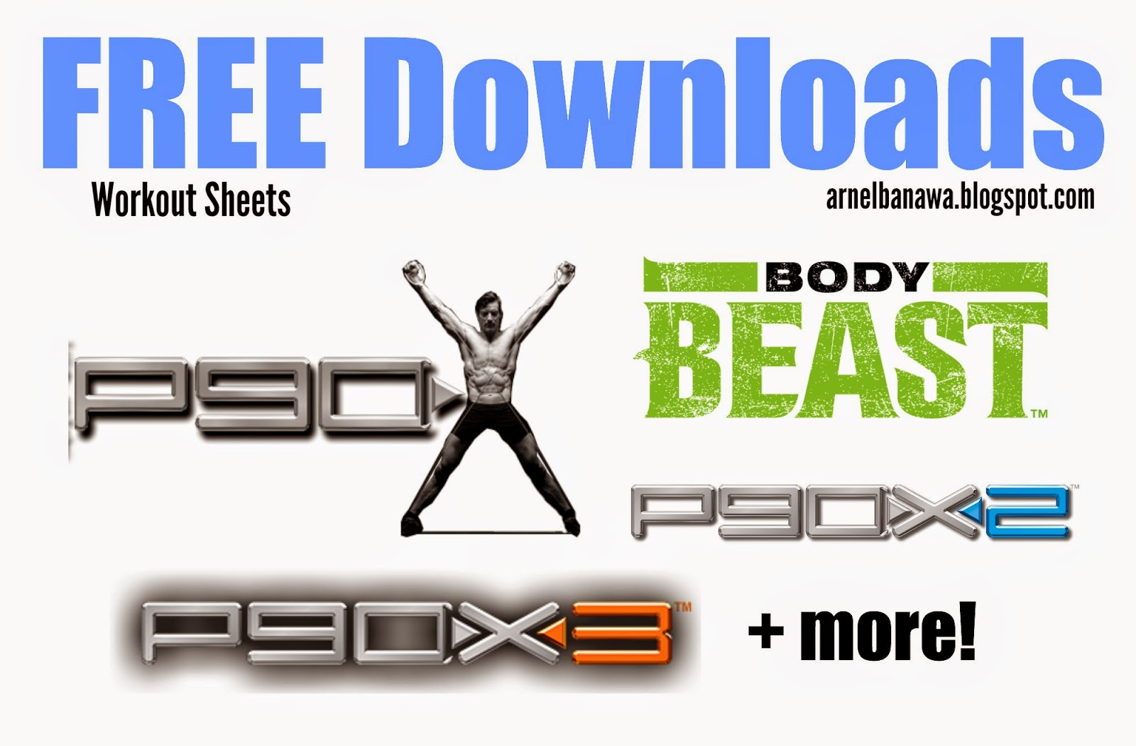 Free P90x Body Beast Workout Sheets S