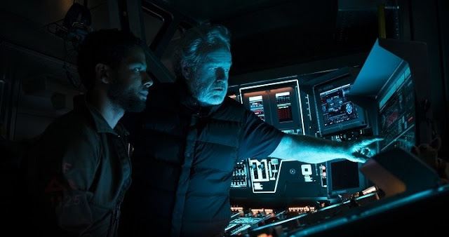 Ridley Scott en el rodaje de Alien: Covenant