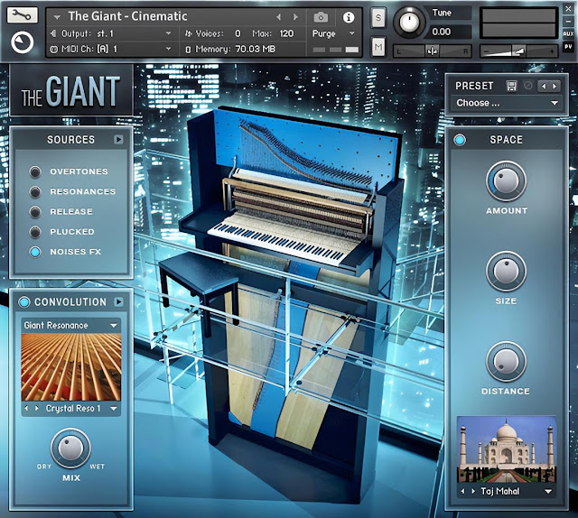 Interface da Library Native Instruments - The Giant v1.2.0 (KONTAKT)