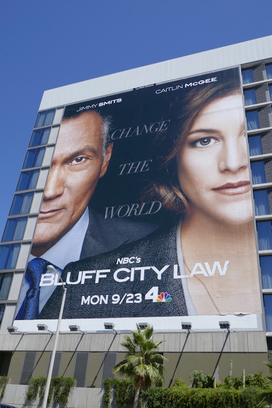 Bluff City Law series launch billboard