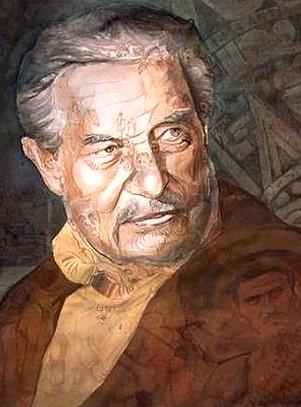 Dibujo de Octavio Paz a colores