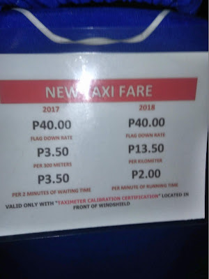 Taxi Fare Matrix