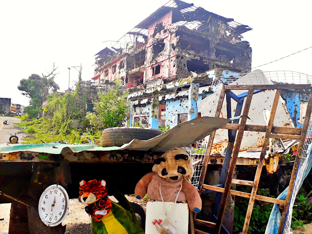a stuff toy remains in Marawi's Ground Zero