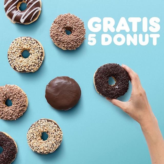 #DunkinDOnuts - #Promo Beli 7 Donut Gratis 5 Donut Pakai Kupon LINE (s.d 10 Maret 2019)