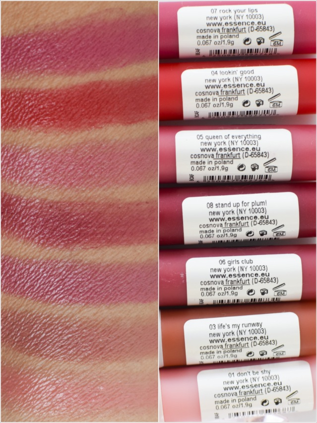 essence, range update for autumn / Winter 2016 color and care lipstick, swatch