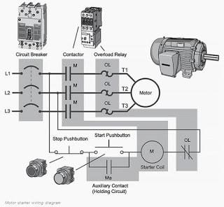 Wiring motor DOL starter