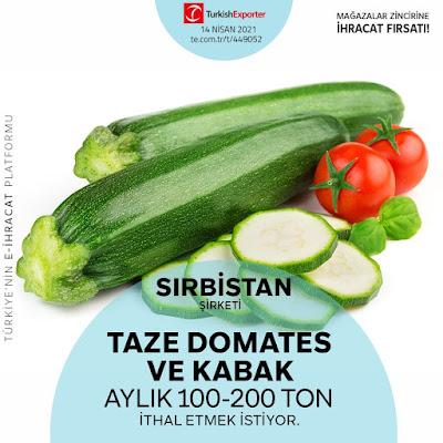 Taze Sebze ve Meyve İhracatı