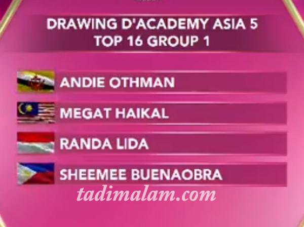 Pembagian Grup 16 Besar DA Asia 5