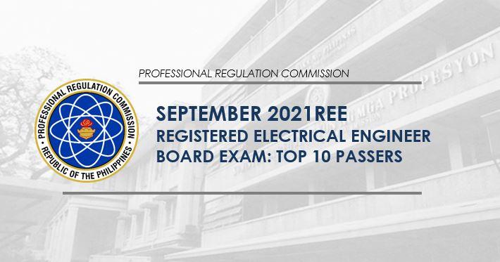 REE RESULT: September 2021 Electrical Engineer board exam top 10