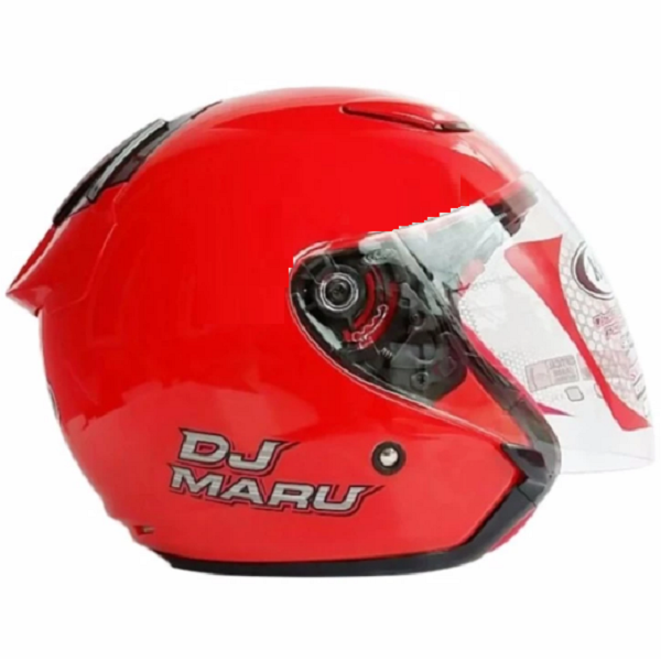 KYT Dj Maru Fire Red Solid Metalic