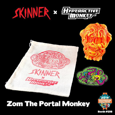 Designer Con 2019 Exclusive Zom the Portal Monkey Vinyl Figure by Hyperactive Monkey x Skinner