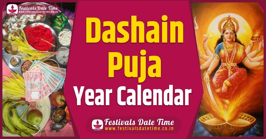 Dashain Year Calendar, Dashain Nepali Calendar