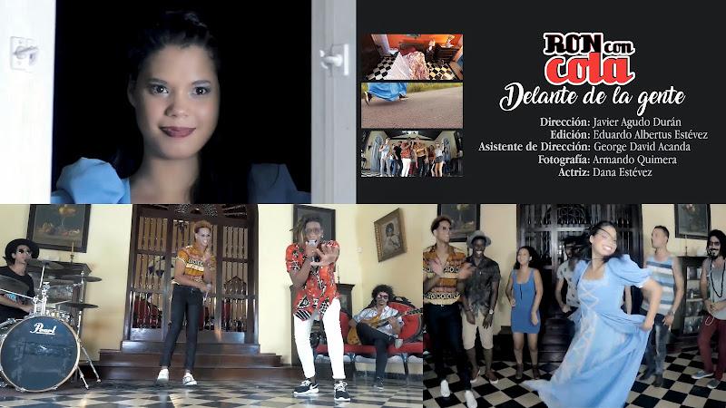 Ron con Cola - ¨Delante de la gente¨ - Videoclip - Director: Javier Agudo. Portal Del Vídeo Clip Cubano