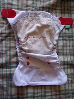 couche lavable lulu nature culotte TE2 Peenut Totsbots zero dechet bebe