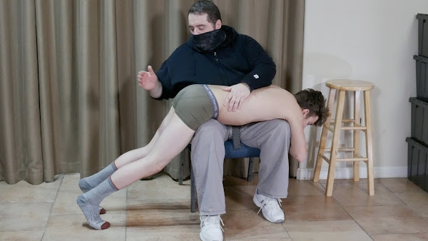 #SPANKINGSTRAIGHTBOYS - Russell's First Spanking Russell Wall