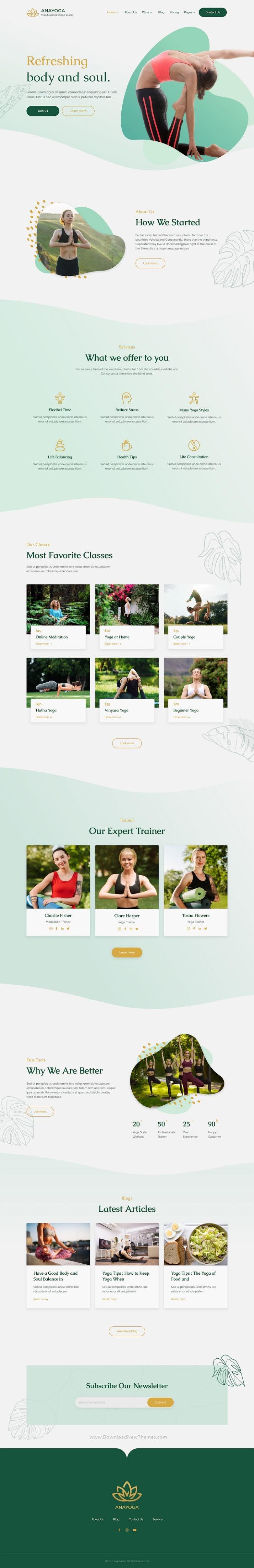 Yoga Teacher & Studio Elementor Template Kit