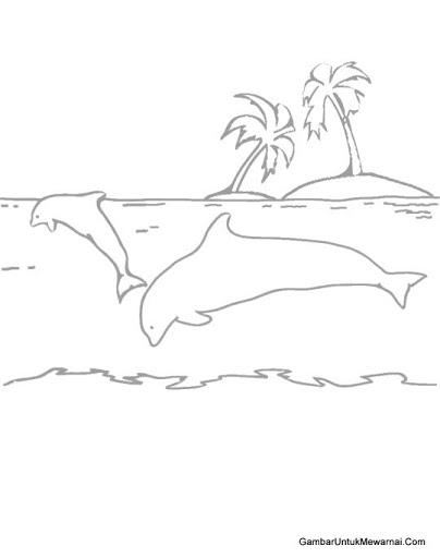Gambar Mewarnai Pemandangan Pantai : gambar, mewarnai, pemandangan, pantai, Gambar, Pemandangan, Hitam, Putih, Untuk, Diwarnai