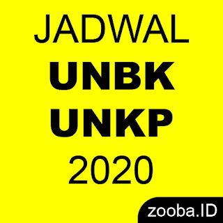 JADWAL UNBK UNKP 2020 TERBARU