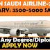 JOBS IN SAUDI AIRLINES – LATEST FEB-2019
