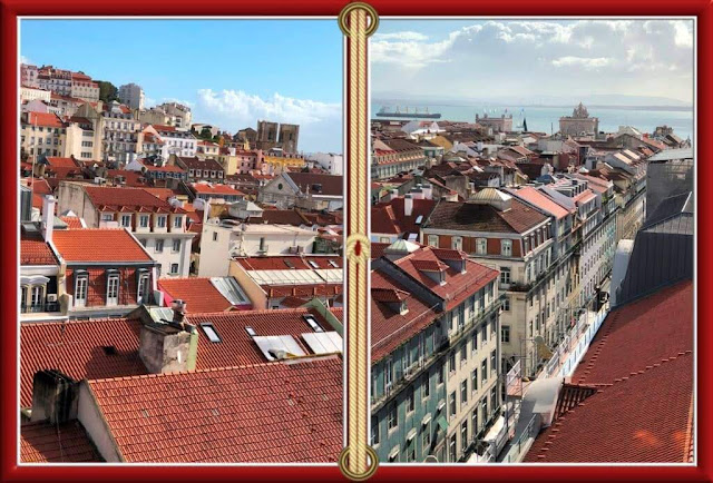 Vista do Elevador de St. Justa - Lisboa