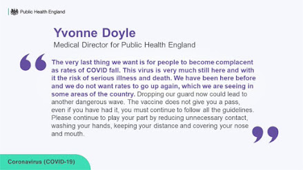 Yvonne Doyle don't get complacent message - all text