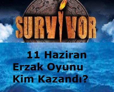 Survivor 11 Haziran Erzak Oyununu Hangi Takım Kazandı?