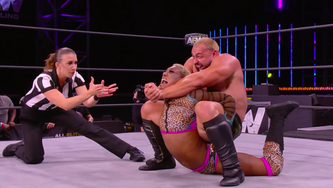 Miro (Rusev) and Sonny Kiss in AEW Dynamite