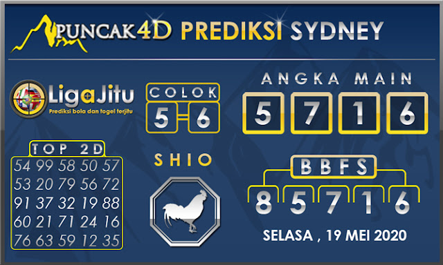PREDIKSI TOGEL SYDNEY PUNCAK4D 19 MEI 2020