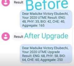 Upgrade Jamb Result