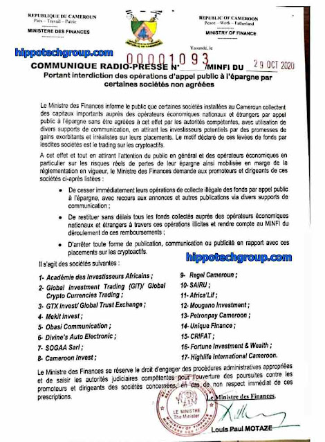 Network Marketing Companies Banned in Cameroon