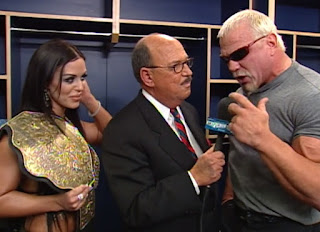 WCW Starrcade 2000 - Mean Gene interviews World Champion Scott Steiner & Midajah