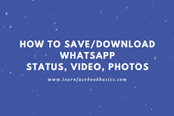 How to download whatsapp status, video and photos