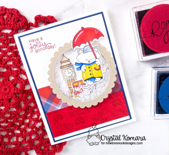 Have a jolly good day by Crystal features Newton Dreams of London and Circle Frames by Newton's Nook Designs; #newtonsnook