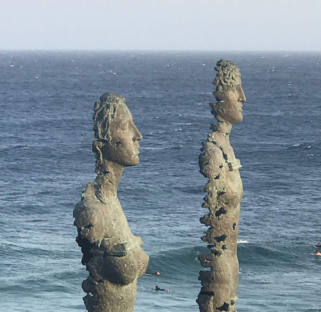 Photo of Egor Zegura sculptures for Sydney's Sculpture by the Sea exhibition 2019