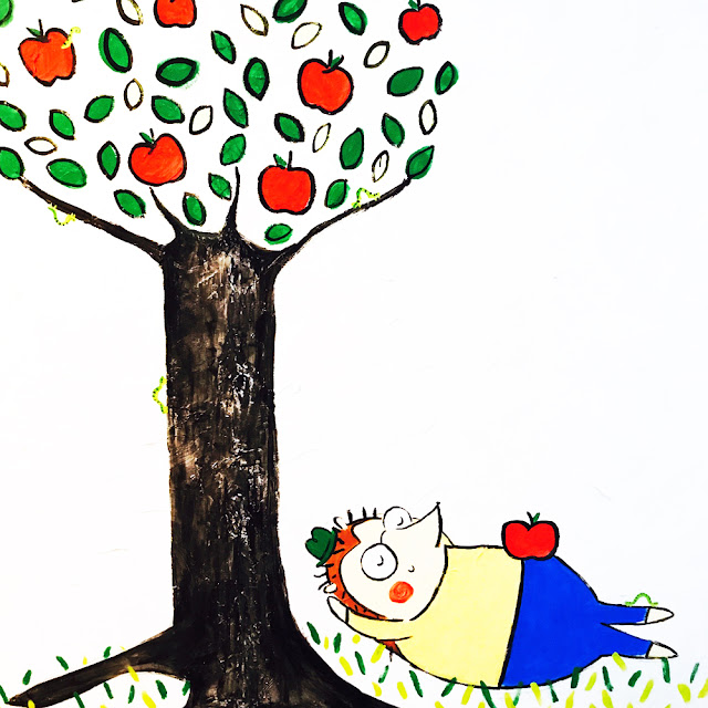Apple Tree Wall Mural by Lady Lucas | Linzer Lane Blog
