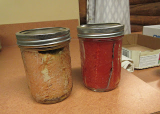 salmon before and after canning