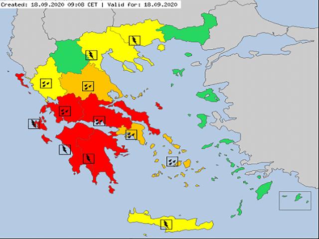 Μέχρι την  Κυριακή  ο «Ιανός» θα επηρεάζει την Περιφέρεια Πελοποννήσου