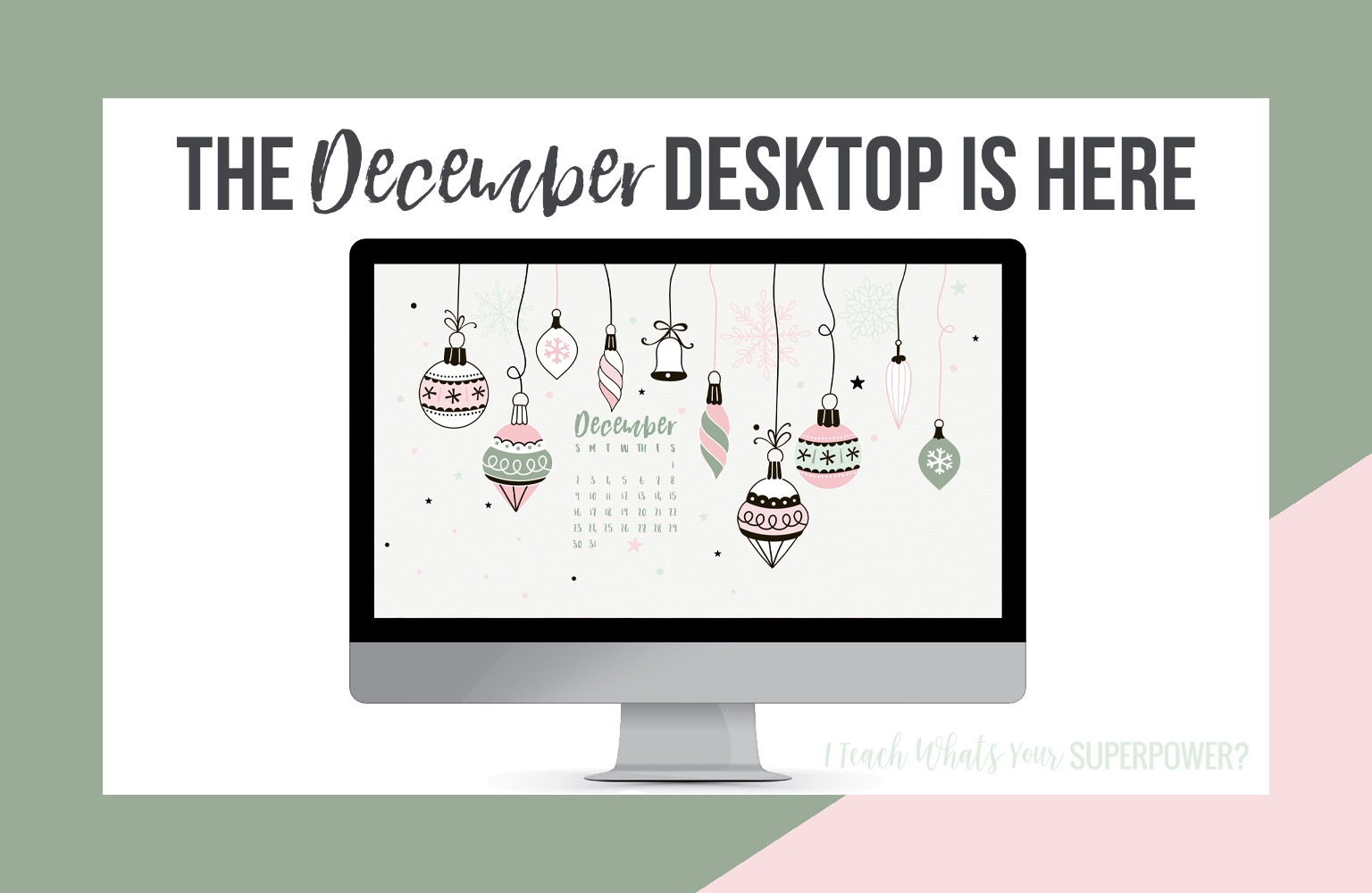 • December 2018 • Computer Desktop Calendar Background and matching iPhone Backgrounds